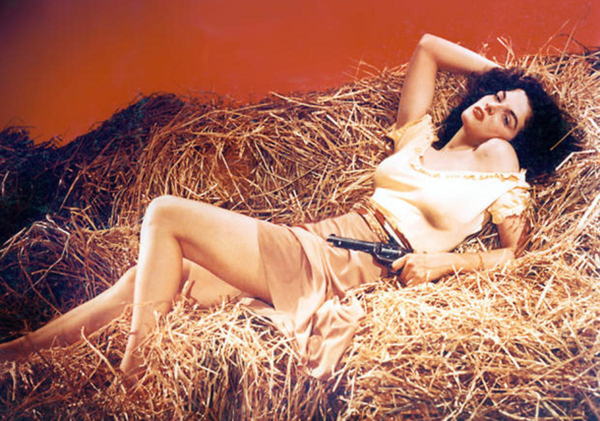 "Jane Russell in ""The Outlaw"""