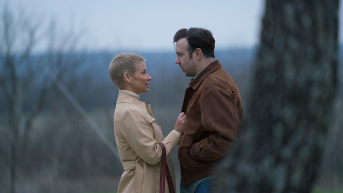 [L-R] Evangeline Lilly as Annie and Jason Sudeikis as Jimmy in the action/drama film, SOUTH OF HEAVEN, an RLJE Films release. Photo courtesy of RLJE Films.