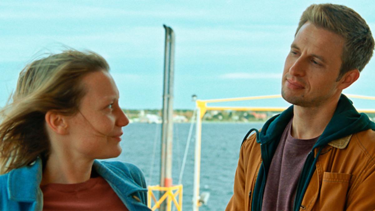 "Mia Wasikowska as ""Amy"" and Anders Danielsen Lie as ""Joseph"" inMia Hansen-Løve's' BERGMAN ISLAND.Courtesy of IFC Films."