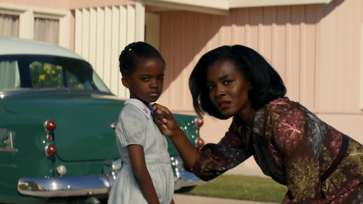 [L-R] Melody Hurd as Gracie Emory and Deborah Ayorinde as Livia 'Lucky' Emory in Them, Amazon Studios