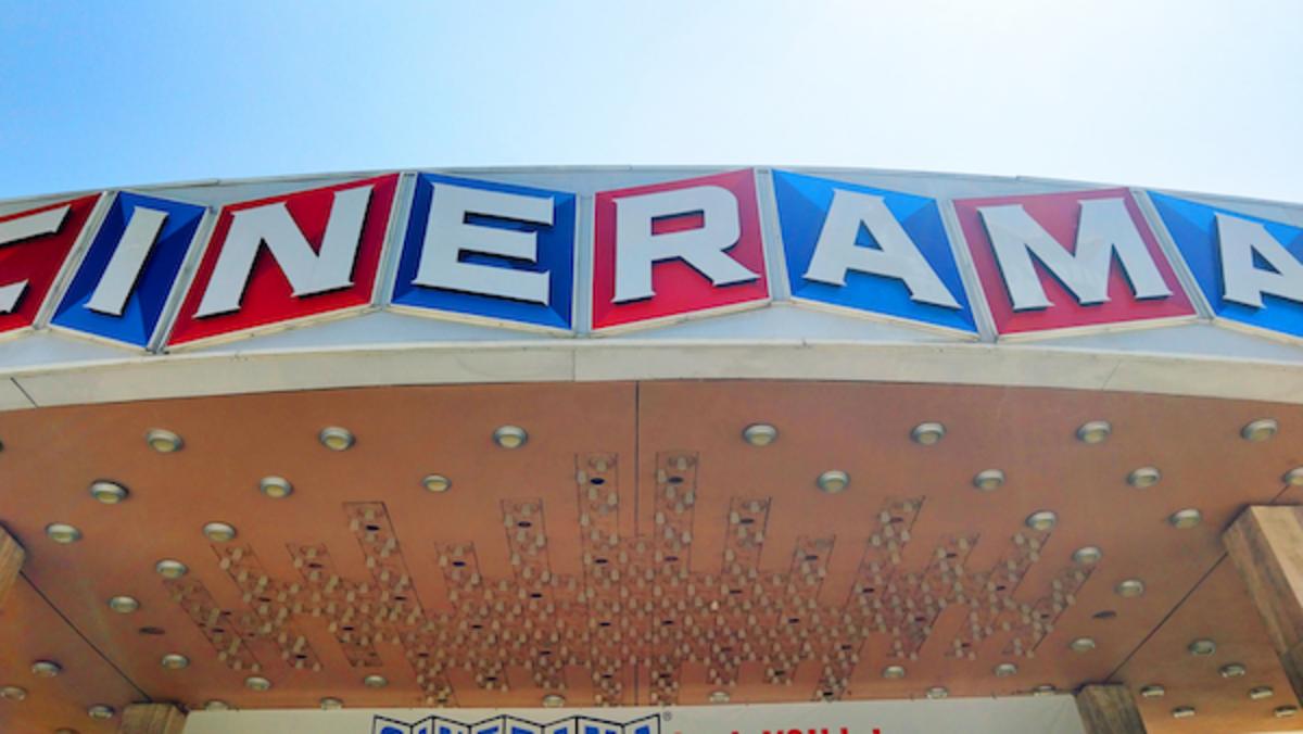 Cinerama Dome marquee, Photo courtesy Kevin Delin