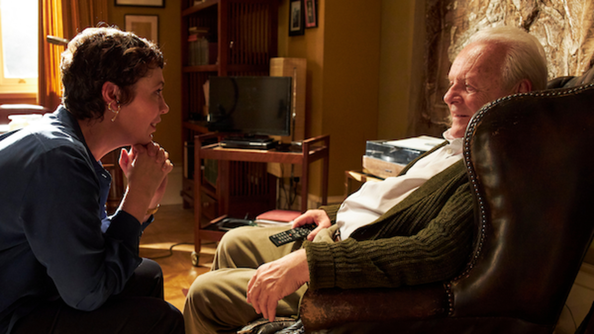 Olivia Colman as Anne, Anthony Hopkins as Anthony in THE FATHER. Photo by Sean Gleason. Courtesy of Sony Pictures Classics.