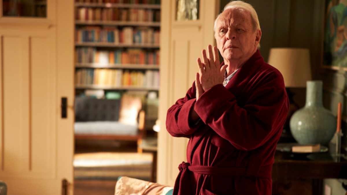 Anthony Hopkins as Anthony in THE FATHER. Photo by Sean Gleason. Courtesy of Sony Pictures Classics.