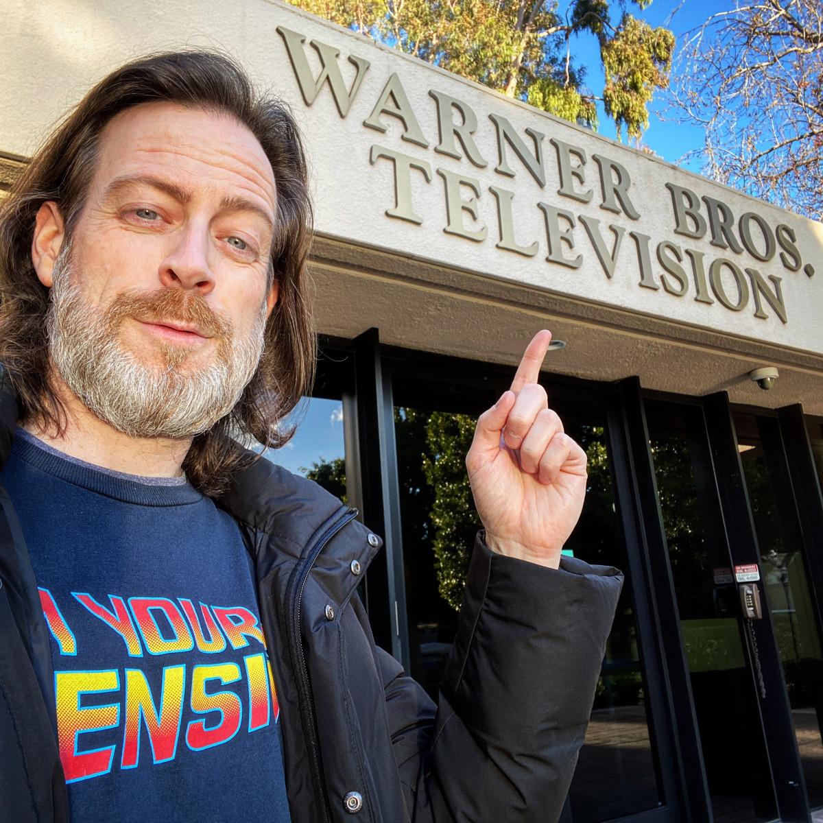 Chris Rafferty at Warner Bros. Photo courtesy Chris Rafferty
