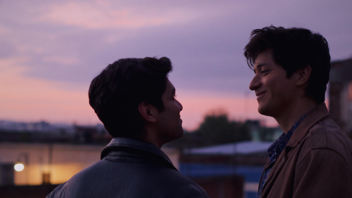 CHRISTIAN VÁZQUEZ as Gerardo, ARMANDO ESPITIA as Iván in I CARRY YOU WITH ME. Photo by Alejandro Lopez Pineda. Courtesy of Sony Pictures Classics.