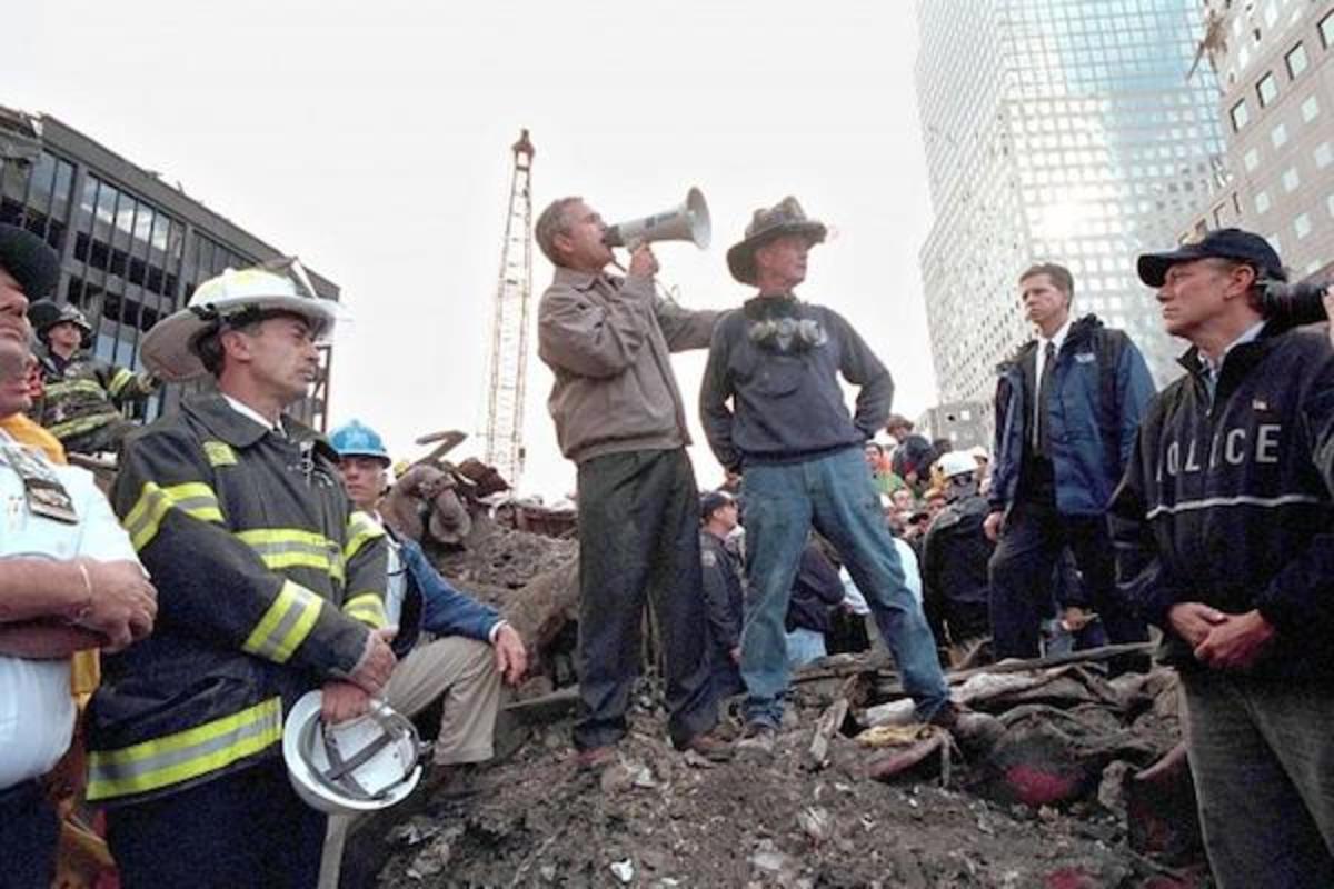 President Bush's speech at Ground Zero