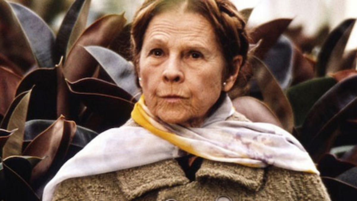 Ruth Gordon as Maude in the film Harold and Maude, Paramount Pictures