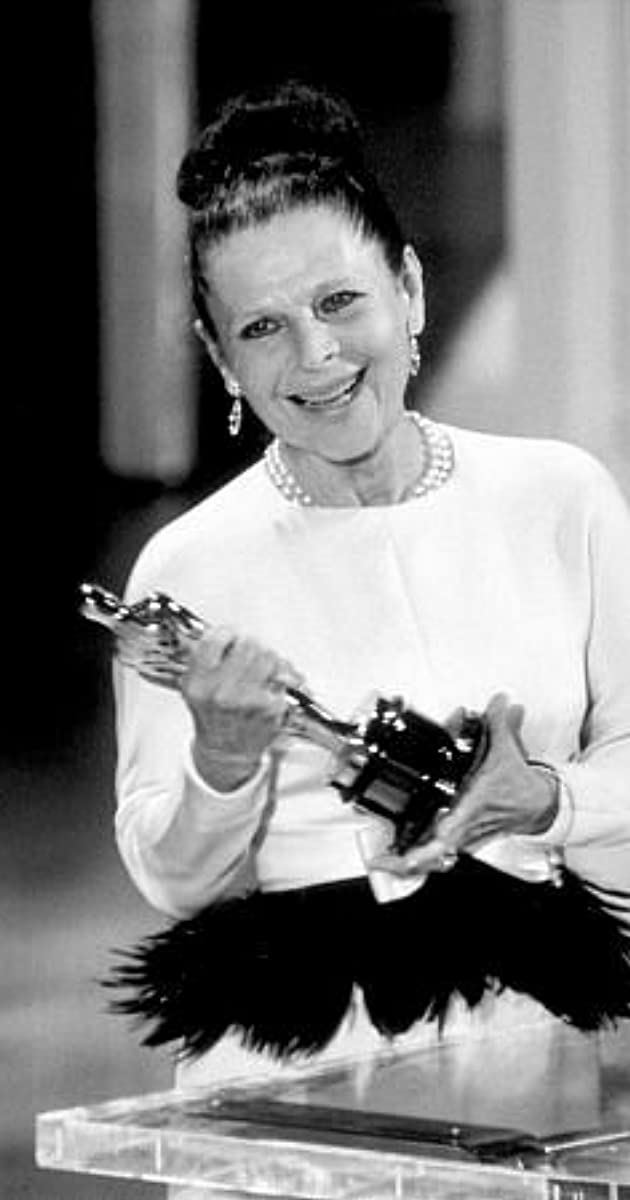 Ruth Gordon, accepting her Academy Award for Best Actress in a Supporting Role in Rosemary's Baby