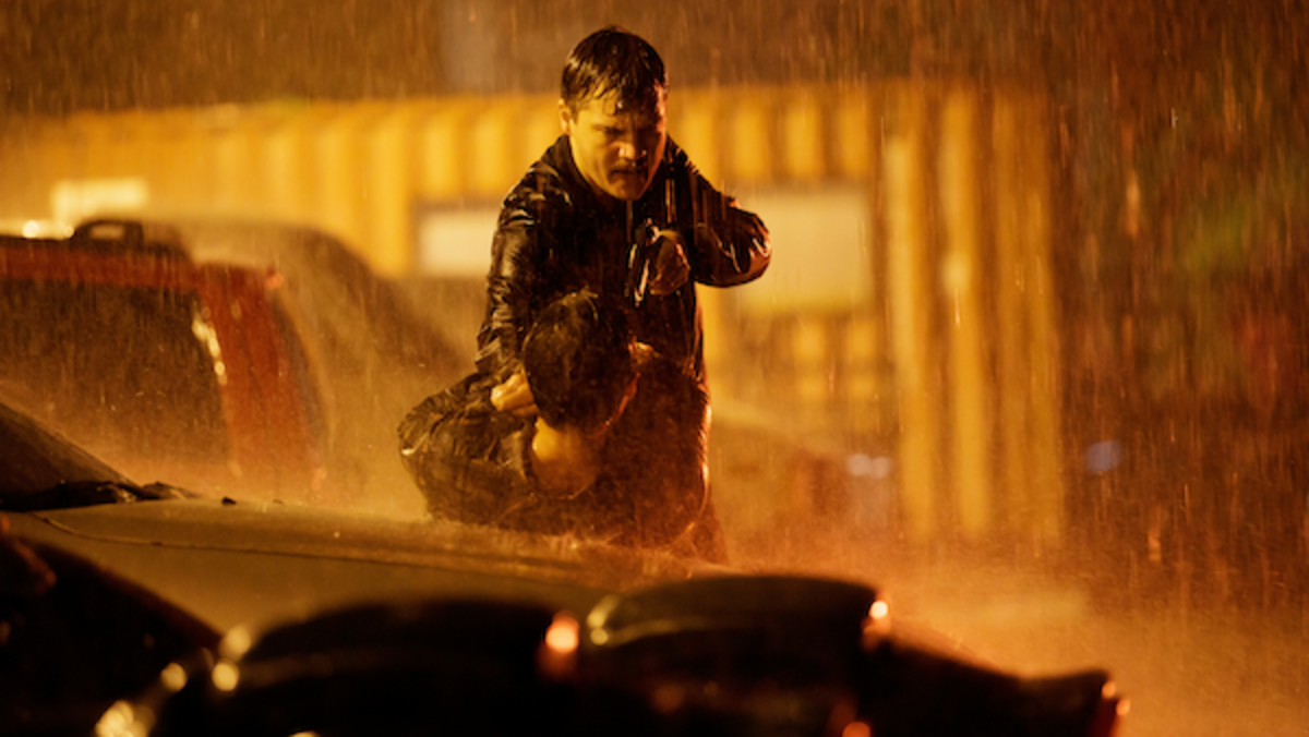 Emile Hirsch as Byron Crawford in the thriller film, MIDNIGHT IN THE SWITCHGRASS, a Lionsgate release. Photo courtesy of Lionsgate.
