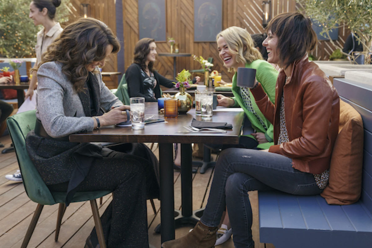 [L-R] Jennifer Beals, Leisha Hailey and Katherine Moennig in The L Word: Generation Q. Courtesy of Showtime.