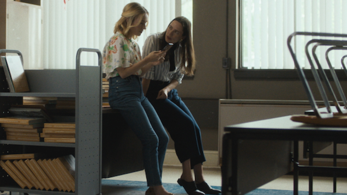 Sarah Goldberg and Rebecca Hall in the film THE NIGHT HOUSE. Photo Courtesy of Searchlight Pictures.