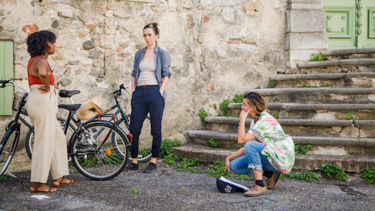 [L-R]Idella Johnson, Hannah Pepper and writer/director Marion Hill. Courtesy Good Deed Entertainment.