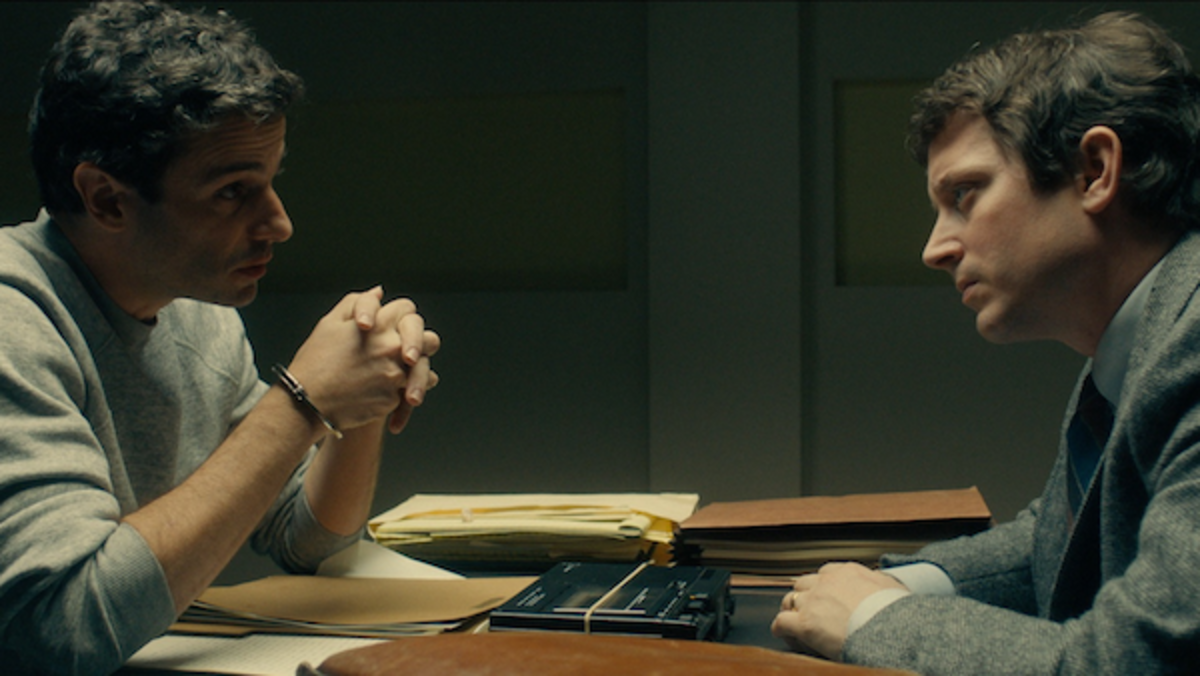 Luke Kirby as Ted Bundy and Elijah Wood as Bill Hagmaier in the drama/thriller, NO MAN OF GOD, an RLJE Films release. Photo courtesy of RLJE Films.