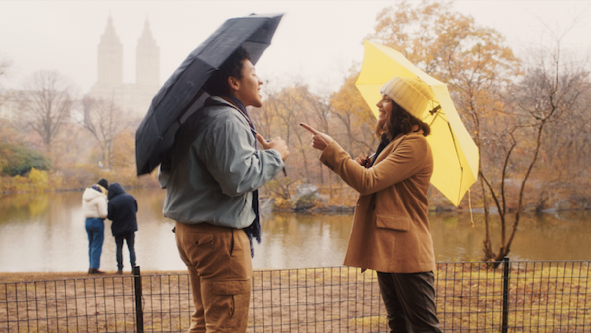 Jaboukie Young-White as 'Milo' and Francesca Reale as 'Wendy' in Jonah Feingold's DATING & NEW YORK.Courtesy of IFC Films.